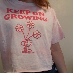 target- keep on growing graphic tee (peanuts)
